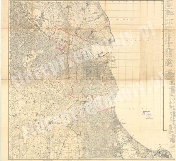 Mapa Gdyni 1942