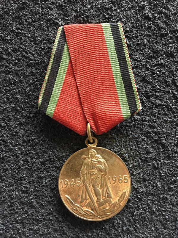 """Medal jubileuszowy """"Dwadzieścia lat Zwycięstwa w Wielkiej Wojnie Ojczyźnianej 1941–1945"""