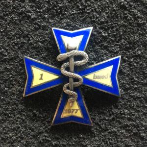Odznaka - 1 Legionowski Batalion Medyczny - odmiana w kolorze srebrnym