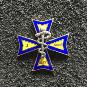 Odznaka - 1 Legionowski Batalion Medyczny - odmiana w kolorze złotym