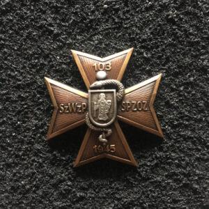 Odznaka - 103 Szpital Wojskowy z Polikliniką Olsztyn w kolorze brązu