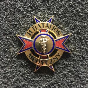 Odznaka - 11 Batalion Medyczny w kolorze złotym
