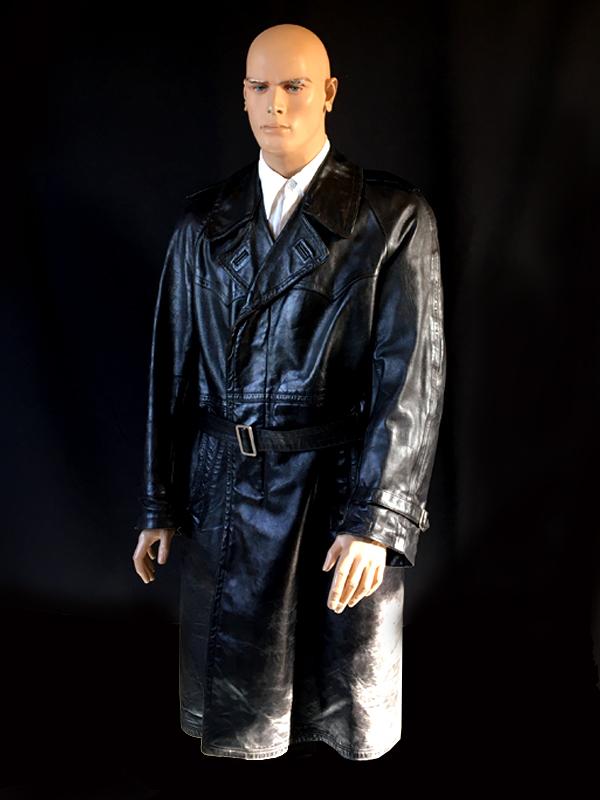 wojskowy płaszcz skórzany 1