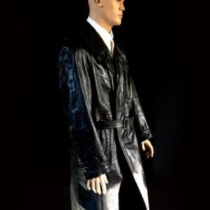 wojskowy płaszcz skórzany 2