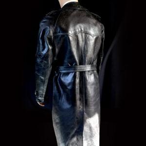 wojskowy płaszcz skórzany 3