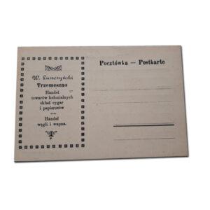 Stara pocztówka - Handel Węgla i Wapna