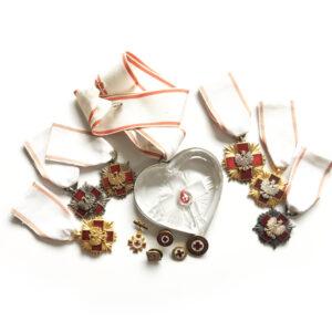 krzyż pck, kryształowe serce PCK
